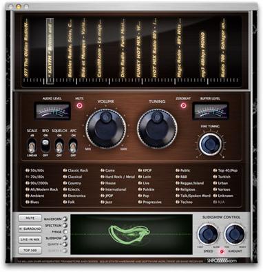 Mac専用おしゃれなインターネットラジオソフトmRX-8000