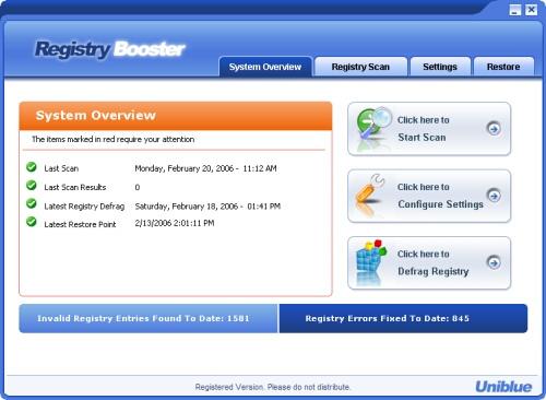 RegistryBoosterという嘘ソフトにご注意を