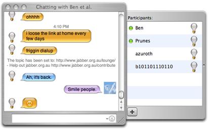 iChatでMSNメッセを使う
