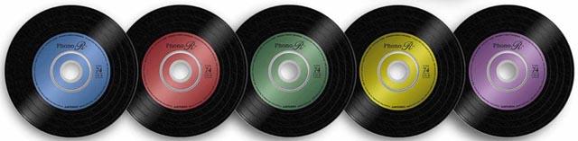 三菱化学メディアのアナログレコード風CD-R