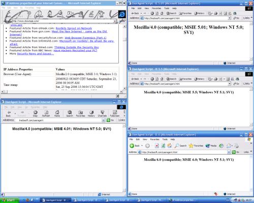 multiple versions of IE