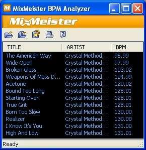 BPM Analyzer起動画面