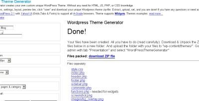 WordPressのテーマを簡単に作成出来るジェネレーター